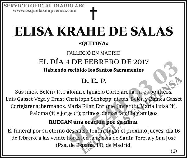 Elisa Krahe de Salas